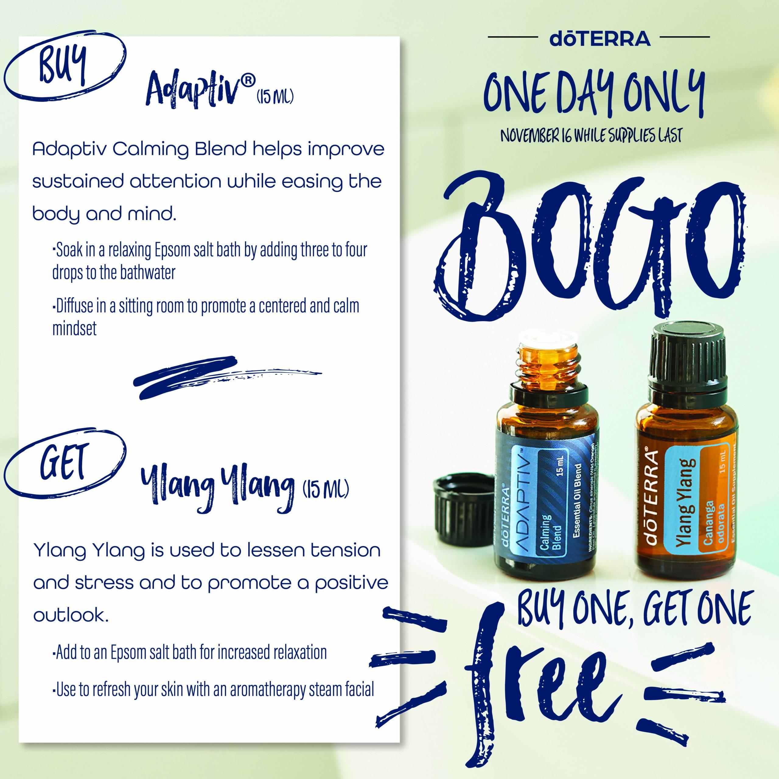 BOGO Day 1 Adaptiv Ylang Ylang